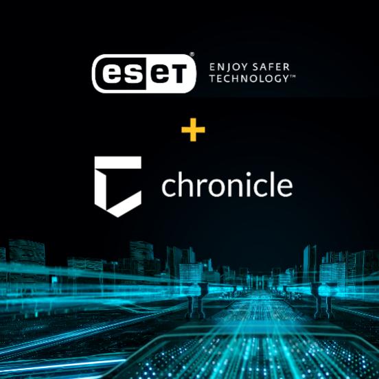 Партнер ESET - Chronicle надаватиме користувачам розширену інформацію.