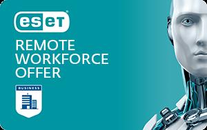 Всесторонняя защита с помощью ESET Remote Workforce Offer от компании ESET.