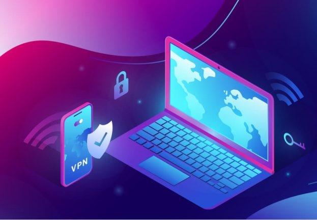 Робота через VPN підключення гарантує безпеку корпоративного середовища. ESET.