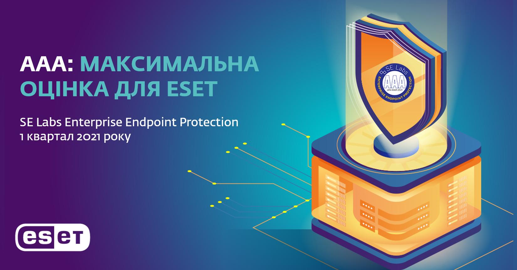 Надійне антивірусне рішення ESET Endpoint Security з провідними технологіями захисту.