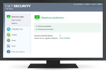 ESET Security for Kerio screen